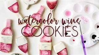 Watercolor Wine Cookies