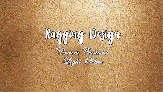 Asian Paints Royale Play Metallics Ragging Wall Design - Cream Custard - Light Ochre
