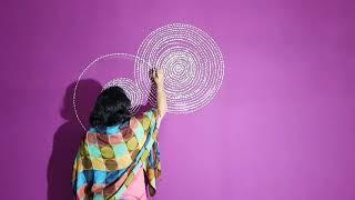 Simple & Easy Purple Wall Design | Wall Painting by Babita Keshan