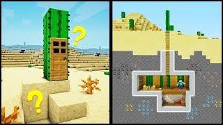 Minecraft: How to Build a Secret Base Tutorial (#8) - Easy Hidden House!