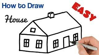 How to Draw House Easy | Art tutorial for beginners