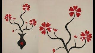 Wall Decoration Ideas l Easy Wall Decor with Paper l Paper craft