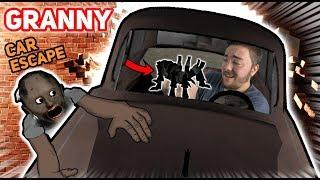 Escaping Granny's House WITH HER CAR AND HER PET SPIDER!!! (Ending) | Granny The Mobile Horror Game
