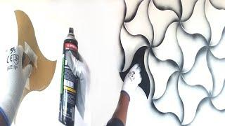 Wall painting ideas for spray paint black and white