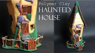 Handmade With Blood: Polymer Clay Haunted House, Recycled Glass Jar || Maive Ferrando