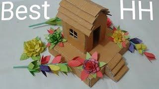 How to Make a Small Cardboard House||Best House with Cardboard/Amazing House/Simple and Easy Way/DIY