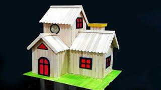 How to Make Popsicle Stick House *New*