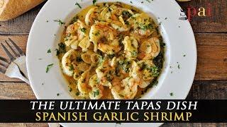Spanish Garlic Shrimp with Saffron and White Wine