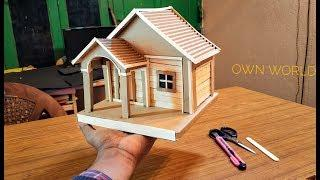 How To Make a Beautiful House from Cardboard & Popsicle Stick (BEAUTIFUL & EASY WAY)
