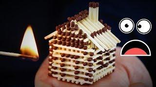 How To Make A Mini House From Match Sticks ! | Fun With Matches