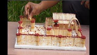 Match Stick House Fire | How to Make a Match House  with Glue | matchbox house || Engineer Tricks