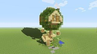"Minecraft Tutorial: How To Make Your First Tree House ""Tree Base"""