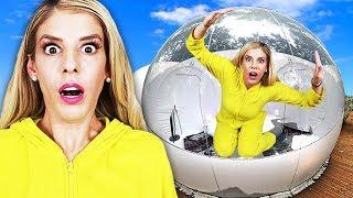 24 Hours Overnight inside a GiANT BUBBLE house! (Matt hypnotized at 3am not from Game Master)
