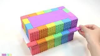How To Make House Two Floor With Kinetic Sand and Learn Colors for Kids
