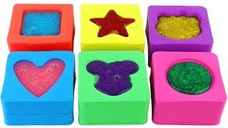 Making Slime with Kinetic Sand Rainbow Cake Learn Colors DIY How to Make Slime Toys for Kids