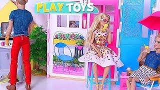 How to Set Up BBQ Grill in the Doll House for Barbie Girl and Ken! ????