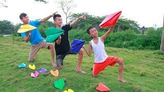 Kids go to School Learn How To Make Paper Airplanes Creative Activity of Children