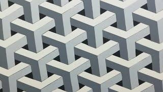 3d wall painting | optical illusion 3d waal design | interior design