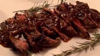 How to make Skirt Steak with Wine Reduction