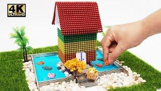 ASMR, DIY How To Make Garden House with Magnetic Balls, Slime | Magnet World 4K