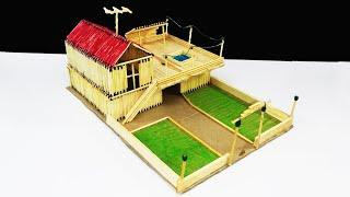 Matchsticks Art | How to Make Match House at Home | Matches House