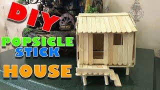 How to build a POPSICLE STICK HOUSE!! - building popsicle stick house villa