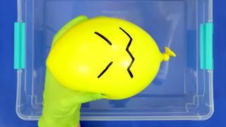 Making Slime with Funny ballons