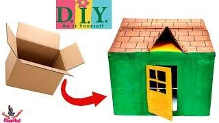 DIY Cardboard House | How To Make a Small Cardboard House | DIY  Cardboard craft | Kids craft