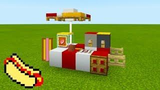 "Minecraft Tutorial: How To Make A Hot Dog Stand ""2019 City Tutorial"""