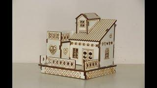 DIY | How To Make Mini Cardboard house | Step By Step