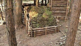 Build a Dog House in the Bushcraft Forest Camp - Part 2