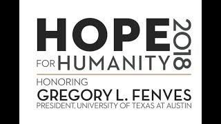 """UT President Fenves' Dallas Holocaust Museum """"Hope for Humanity"""" Speech"""