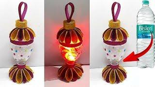 How to make Lantern/Tealight Holder from Waste plastic bottle   DIY Home Decorations Idea