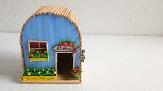 How to make cardboard doll house /Diy shoe box doll house /Recycled craft idea