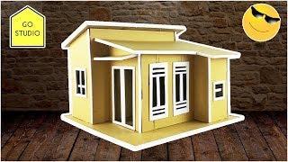 How To Make a Small Cardboard House - DIY CARDBOARD HOUSE EASY WAY and BEAUTIFUL