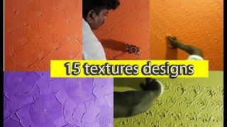 15 Creative dry wall putty textures ideas for interior