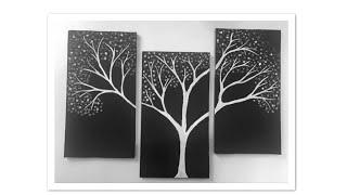 Easy painting   diy wall hanging   best out of waste