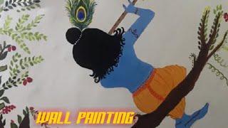 Wall Painting //DIY #1st time//Poojavarma