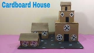 How To Make Cardboard House | With Cardboard | For School Project