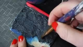 Painting A Textured Wall Scale Miniature Dollhouse DIY