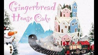 How To Make A Gingerbread House Cake/DIY Christmas Cakes/ The Lovely Baker Collab
