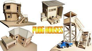 How To Make PUBG HOUSES Compilation GARAGE. GUARD TOWER, HARRY POTTER, FBOY SHACK DIY From Cardboard
