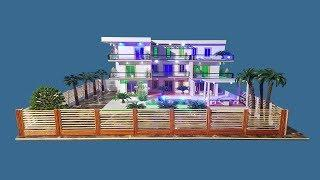 Building Popsicle Stick Mansion House - Popsicle Garden Villa - Architecture - Mode 06