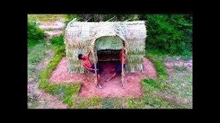 How to   Make a house on palm leaves #Primitive Copy / Primitive Building