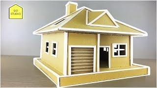 HOW TO MAKE SMALL HOUSE FROM CARDBOARD | DIY and Carfts Cardboard - GO - STUDIO