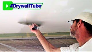 Ugly Drywall Ceiling? You Can Actually Skim Coat It New Again!