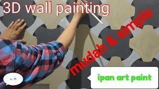3D wall painting| wall art paint| cat wash| cat motif| mural art paint