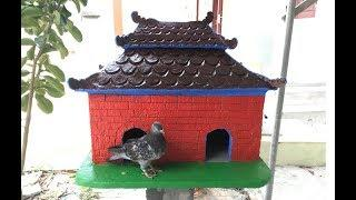 DIY - ❤️Cement Craft Ideas ❤️ - How To Make House Dove
