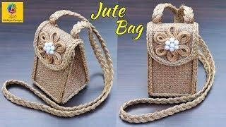DIY Jute Bag | How to Make Handmade Ladies Purse with Jute Rope | Ladies Bag with Jute Craft Idea