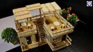 How to make popsicle stick house with matchstick NOT Fire Make House Project 2018 || Uncut Friends